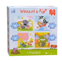 Woezel &Pip puzzle, 4 in 1