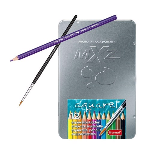 Mxz Look 12 water soluble colour pencils