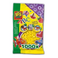 SES Ironing beads-yellow, 1000pcs.