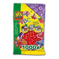 SES Ironing beads-red, 1000pcs.