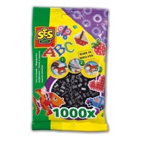 SES Ironing beads-black, 1000pcs.