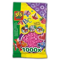 SES Ironing beads-pink, 1000pcs.