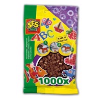 SES Ironing beads-dark brown, 1000pcs.
