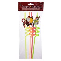 Spiral Straws Christmas, 4pcs.