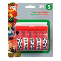 Christmas adhesive tape, 5pcs