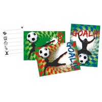 Invitations Goal, 6pcs.