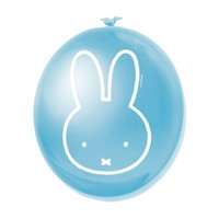 Balloons Miffy blue, 6pcs.