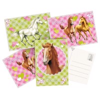 Invitation Cards Horses. 6pcs