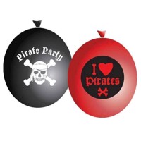 Balloons pirates, 6pcs.