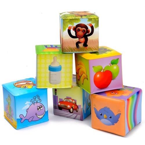 Happy World soft blocks, 6pcs