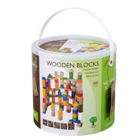 Jouéco wooden blocks, 100pcs.