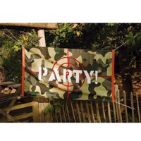 Camouflage Flag ' Party! ' Festartikel