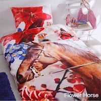Duvet Cover Flower Horse
