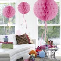 Honeycomb Ball-Light Pink
