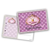 Prinsesse invitationer, 6 stk