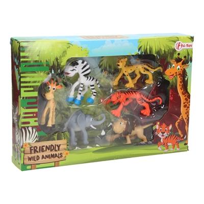 Friendly Wild Animals in Box, 6pcs.