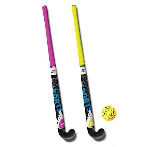 Hockeyset pink and yellow 33