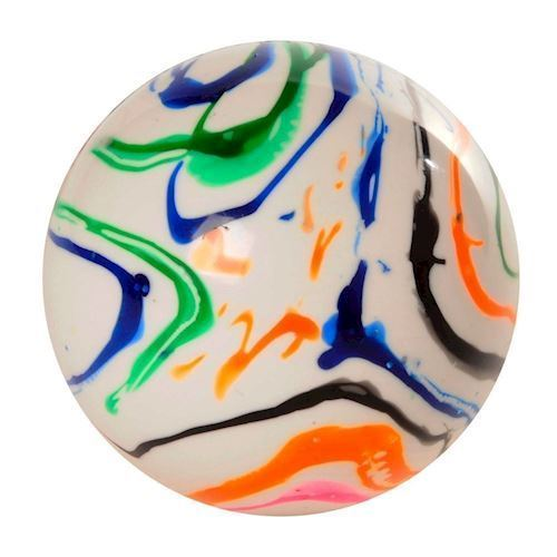 Hockey Ball Colored Flame
