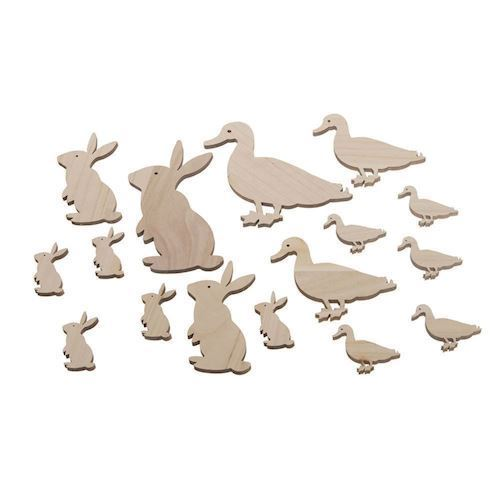 Wood Ducks and Rabbits Mix, 16st.