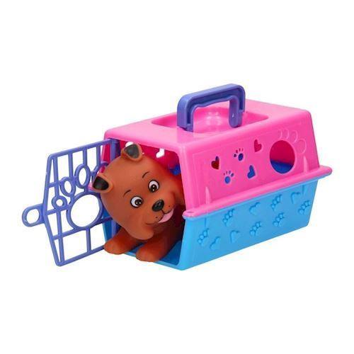 Hund i transportbur, legetøj