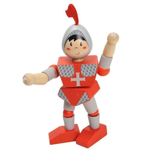 Wooden Flexible Knight-Red