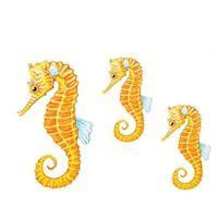Wall stickers sea horses, set of 3