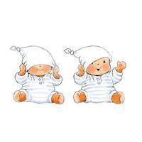 Wall sticker Baby Bobbi, 2pcs.