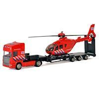 Polesie Die-cast Truck with Helicopter - Fire Department