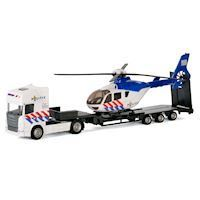 Polesie Die-cast Truck with Helicopter - Police