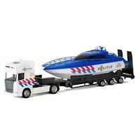 Die-cast Truck with Boat - Police