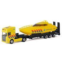 Die-cast Truck with Boat - Ambulance