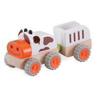 Wonderworld Wood Tractor with trailer