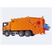 Bruder skraldebil Scania orange 62cm