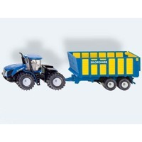 Siku New Holland traktor med trailer 1:50