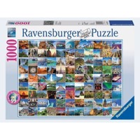 Ravensburger Puslespil 1000 brikker 99 Beautiful Places on Earth