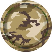 Plates Camouflage, 8 psc