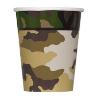 Cups Camouflage, 8st.