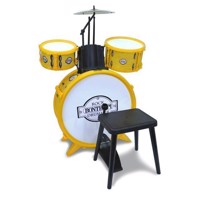 Bontempi Drumset with Stool, 4dlg.