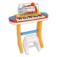 Bontempi Keyboard Standing with Microphone and Stool Blue
