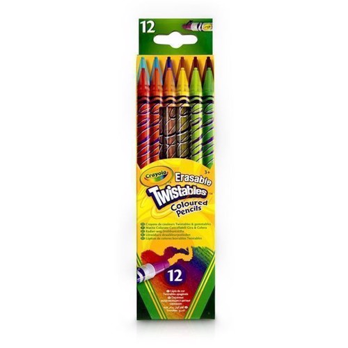 Crayola Kritor med Sudd, 12 st.