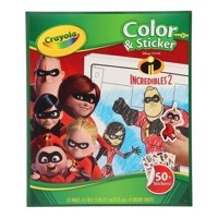 Crayola Mini Kids - Color and sticker book Incredibles
