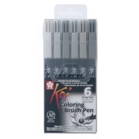 Sakura Koi Color Brush Set, 6 psc