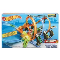 Hot Wheels Corkscrew Crash Race Track