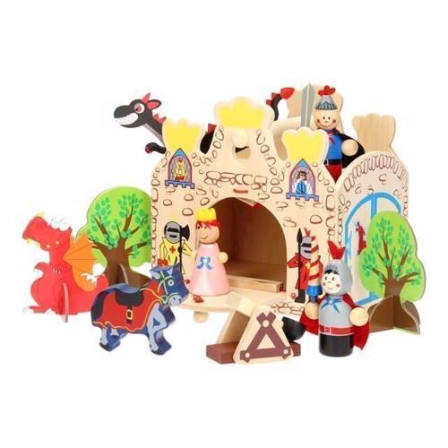 Wooden Portable Play Set Castle