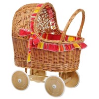 Wicker doll car
