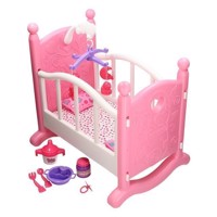 Doll swing bed with accessories