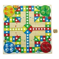 Wooden Ludo & Butter Cheese and Eggs Travel Game, 2in1