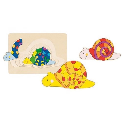 3layer wooden Puzzle Snail