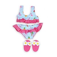 Dolls Bikini with Slippers Flamingo, 28-35 cm