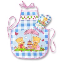 Kids Apron with Oven Mitt